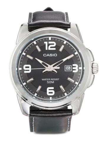 Enticer 皮革esprit outlet 家樂福圓框男士手錶, 錶類, 飾品配件