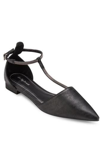 尖頭T字帶平底鞋,esprit鞋子 女鞋, 鞋
