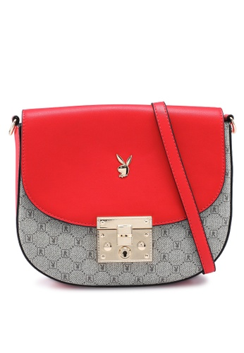 PLAYBOY BUNNY red Ladies Sling Bag 4A870AC03ED3EAGS_1