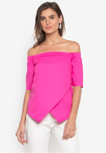 CANVAS pink Hope Top Off Shoulder C3F95AAC3CB890GS_1