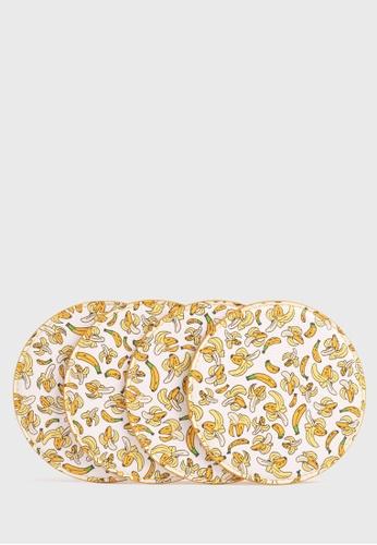 Tocco Toscano white and yellow Coaster Family Bundle by Asher Won (Bananas) 01BA8HLF16E430GS_1