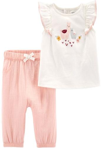 Carter's pink CARTER'S Girl Llama Tee & Pant Set C2268KAFEA8272GS_1