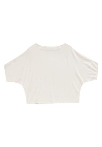 KLAPS beige Batwing Sleeves Sweater 15572AA3565481GS_1