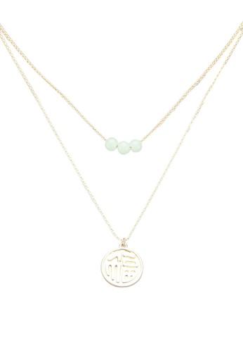 ALDO green Jussa Necklace 069B8AC72699BBGS_1