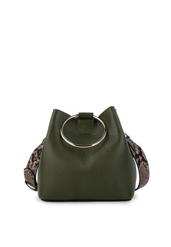 Della Stella green Luck Holic Square Tote Bag 2FEC2AC9F70E53GS_1