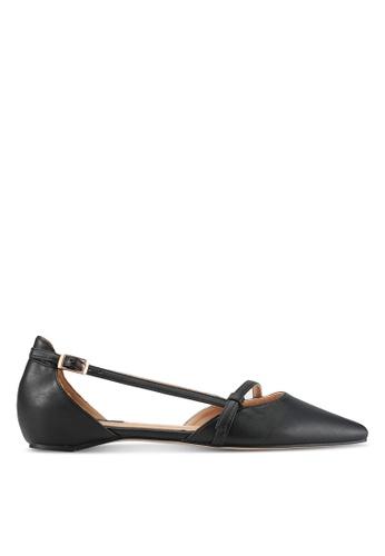 ZALORA black Faux Leather Ballet Flats BC585SH900A47EGS_1