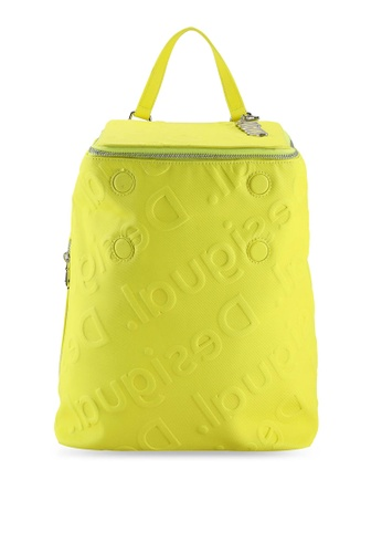 Desigual yellow Logo Embossed Backpack DAA44ACFE782A1GS_1