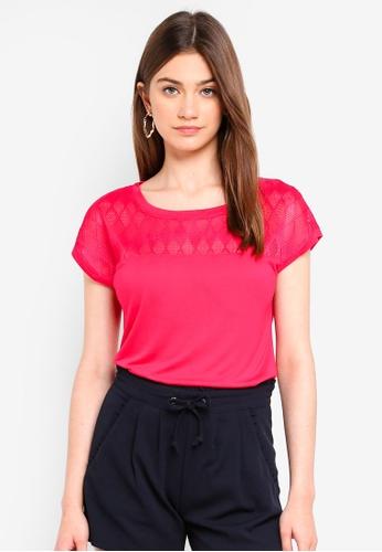 JACQUELINE DE YONG red Renee Lace Top E142CAA48D5D33GS_1