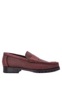 d002291e7da A. Testoni red Men s Casual Dress Shoes Penny Loafers AT299SH0K4BYPH 1