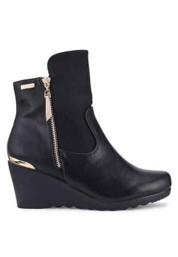 Carlton London 黑色 質感靴子 72984SH84F85CFGS_1