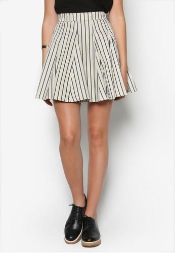條紋傘擺短裙, 服飾zalora 評價, 裙子