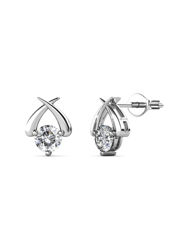 Her Jewellery silver Swarovski® Crystals -Myth Earrings (18K White Gold Plated) Her Jewellery HE581AC0SICVMY_1