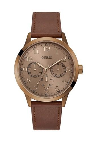 Guess Watch brown Guess Jam Tangan Pria Analog W1101G3 D794CACDE9AF48GS 1 d61698d53a