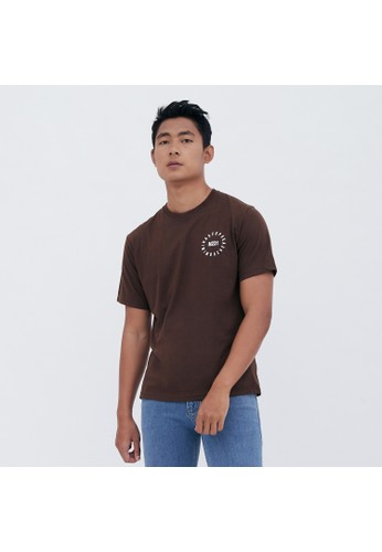 M231 T-Shirt Grafis Pendek Coklat 1933B EEC4DAAE4E22B6GS_1