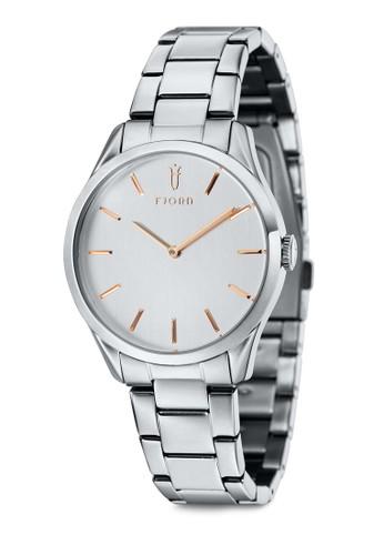 VENDELA 雙指針金屬鍊圓框esprit高雄門市錶, 錶類, 飾品配件