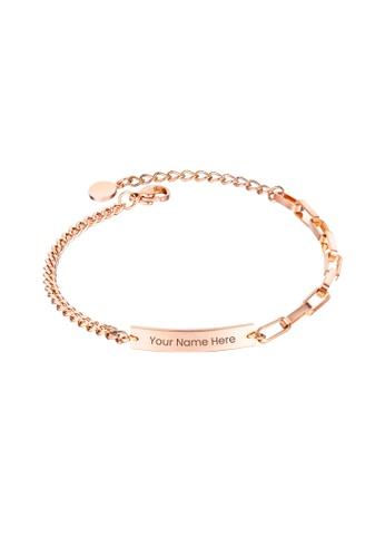 CELOVIS gold CELOVIS - Valor Engravable Tag Pendant Bracelet in Rose Gold 4FDE0AC09A65BEGS_1