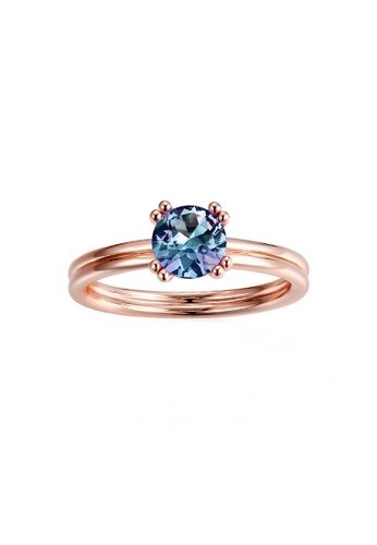Her Jewellery gold Alexandrite - Verusha Ring (Rose Gold ) with 18K Real Gold Plated by Her Jewellery AA62BAC6F566B7GS_1