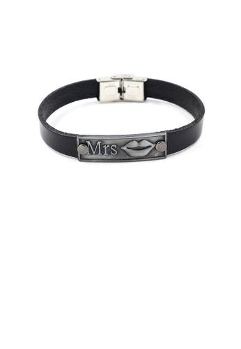 Glamorousky silver Fashion Valentine's Lady Lips Leather Bracelet 84B17ACA03EC3BGS_1