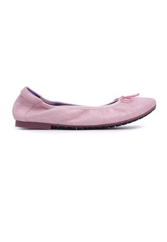 Flatss & Heelss by Rad Russel pink Textured Print Flats - Pink FECD2SH607FAFDGS_1