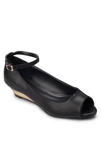 露趾繞踝楔型跟鞋, 女鞋, esprit bag魚口楔形鞋