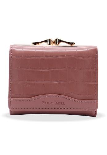 Polo Hill purple Polo Hill Textured Flap Short Wallet 9478DACA546425GS_1