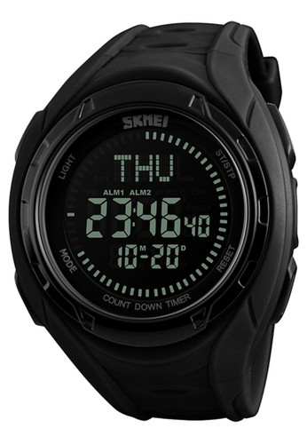 Digitec black Skmei Compass Watch - Jam Tangan Pria - Black - Resin Strap - 1314-B 9CFE8ACBF9A4BEGS_1