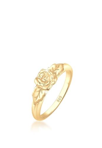 ELLI GERMANY gold Elli Germany Ring Rose Vintage 925 Sterling Silver gold-plated DE992AC785B27BGS_1