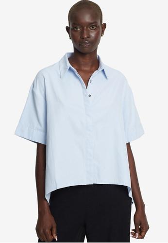Willa blue Boyfriend Shirt C6D02AAC00E4A8GS_1