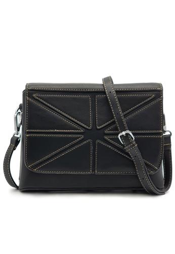 RUCINI 黑色 Rucini Stitched Flap Ladies Crossbody Bag 5C5A8AC1019249GS_1