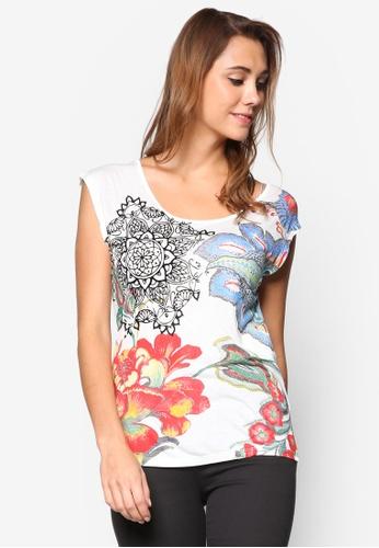 Desigual white Katerine Short Sleeve T-Shirt DE160AA13LQSMY_1