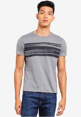 OVS 灰色 混色條紋T恤 3F453AA99295DCGS_1