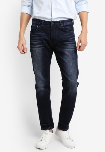 CR7 blue and navy Type C Slim Straight Basic Jeans CR532AA95EEYMY_1