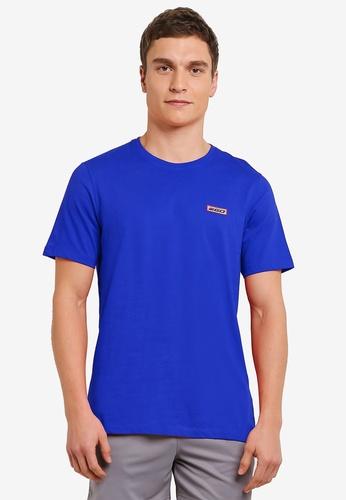 2GO 藍色 短袖圓領T恤 2G729AA0S5YVMY_1