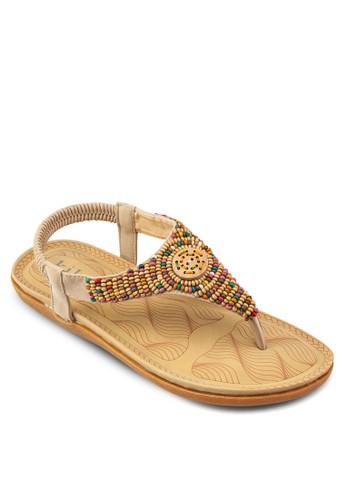 esprit home 台灣彩色木珠夾腳涼鞋, 女鞋, 鞋