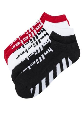 Hollister 紅色 LOGO印花襪3入 5DE1EAA41875F5GS_1