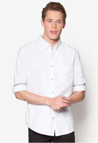 牛津長袖襯衫、 服飾、 襯衫BurtonMenswearLondon牛津長袖襯衫最新折價