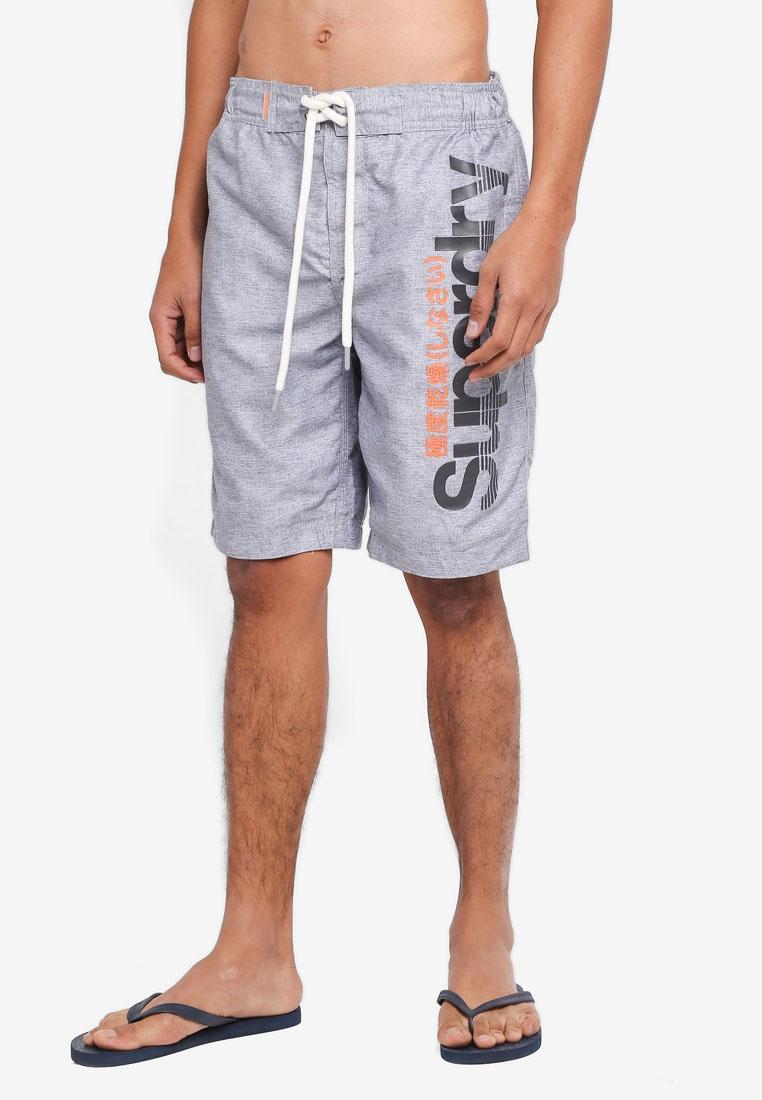 Superdry Grey Boardshorts Silver Grit Superdry 0v64pgW4