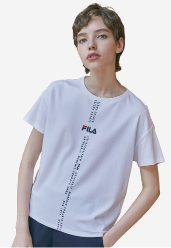FILA white FILA Logo Dropped Shoulders Cotton T-shirt D4C35AAF3A871EGS_1