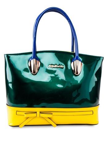 動esprit hk分店物紋漆皮手提包, 包, 飾品配件