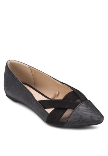 Maggie Mesh Point Flats, zalora時尚購物網的koumi koumi女鞋, 芭蕾平底鞋