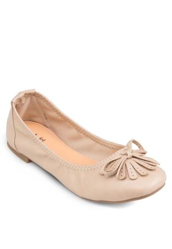 蝴蝶結流蘇平底鞋, 女鞋,zalora 順豐 鞋