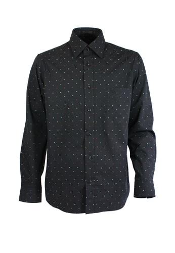 Valentino Rudy black Valentino Rudy Italy Men's Long Sleeve Semi Fit Black Shirt (04802-0068-98) F2C96AA8499F4EGS_1