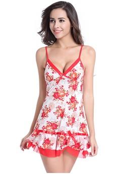 Sexy Babydoll Womens Flower Spaghetti Strap Lovely Underwear Sleepwear