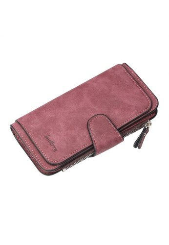 Baellerry red Trifold Long Wallet 85797ACFD008B6GS_1