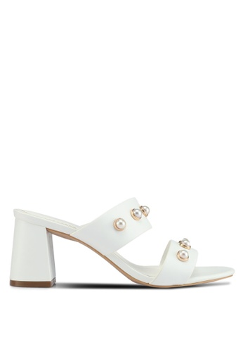 VINCCI white Slip On Heels 09F88SH1AA43CCGS_1