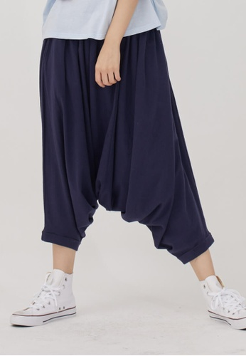 so that's me navy Tommy Wide Waistband Capri Pants Navy 7227CAA0894801GS_1