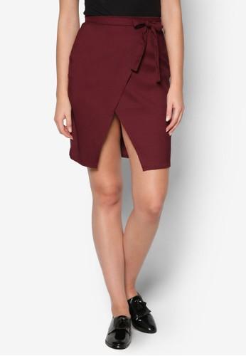 繫帶裹飾迷你短裙, esprit品牌介绍服飾, 服飾