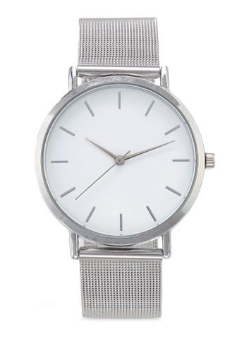 NUVEAU silver Round Face Silver White Mesh Strap Watch BB06FAC1641A6FGS_1