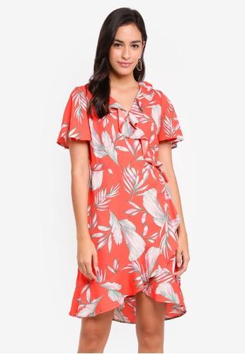 Vero Moda red Maharete Short Wrap Dress 64A56AA07A727DGS_1