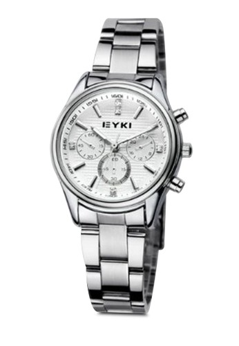 EEesprit門市T8581 多功能鍊錶, 錶類, 不銹鋼錶帶